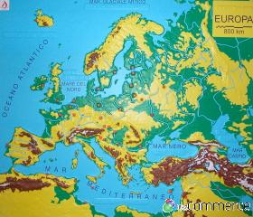 Cartina Europa Fisica Con Fiumi.Europa Fisica A Colori Prociechi Shop