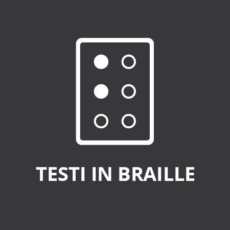 - O - Testi in scrittura Braille